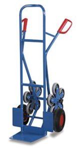 Treppenkarre mit 2 fünfarmigen Radsternen ♥ Luftbereifung auf Stahlfelge mit Präzisionsrillenkugellager, schwarz, Ø260 x 85 mm  ♥ Luftbereifung auf Stahlfelge mit Präzisionsrillenkugellager, schwarz, Ø260 x 85 mm
