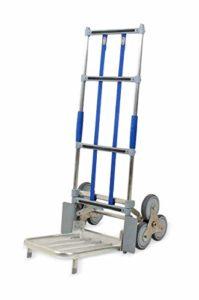 Vollmontierter, klappbarer EXPRESSO Alu Treppensteiger mit Drei-Rad-Mechanismus AE851276115504 ♥ Der Drei-Rad-Mechanismus sorgt für kontrolliertes Überwinden von Stufen und Treppen  ♥