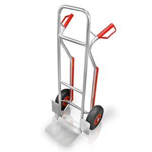 Aluminium Sackkarre mit Treppenrutsche ♥ Ideal geeignet für Verladearbeiten, Lieferungen, Umzüge usw.  ♥ Luftbereifte Räder (Ø): ca. 300 mm