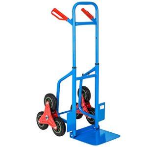 TecTake Profi Treppensackkarre ♥ Die Sackkarren bestehen aus einem robusten Stahlrohr-Rahmen, die Sicherheitsgriffe sind aus festem Kunststoff.  ♥ 6 Räder