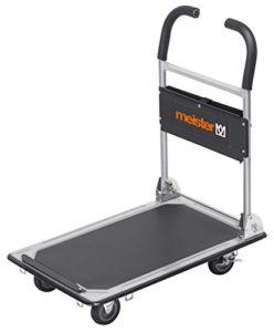 Plattformwagen klappbar--Meister Plattformwagen ♥  Klappbar ♥ Bis 150 kg Tragkraft  ♥ Stahl mit PVC-Beschichtung ♥ Räder Kunststoff ♥ Grau