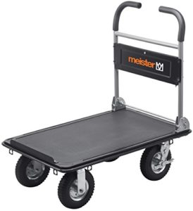 """Plattformwagen klappbar--Meister Plattformwagen """"super cross-over"""" ♥ Klappbar ♥ Bis 300 kg Tragkraft ♥ Stahl mit PVC-Beschichtung ♥ Räder Gummi ♥ Grau"""