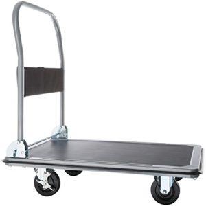 Plattformwagen klappbar--TecTake Plattformwagen Handwagen ♥ zusammenklappbar ♥ Rutschfeste Gummiauflage ♥ Stahl, Polypropylen (Kunststoff) ♥ Grau