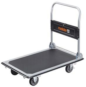 Plattformwagen klappbar--Meister Plattformwagen - Klappbar - Bis 300 kg Tragkraft - Feststellbremse  ♥ Stahl  ♥ Räder Kunststoff ♥ Grau ♥ Schwarz