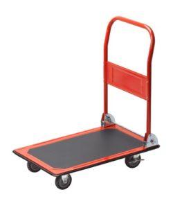 Plattformwagen klappbar--Meister Plattformwagen - Klappbar - Bis 150 kg Tragkraft - Feststellbremse ♥ Stahl  ♥ Räder Gummi ♥ Rot ♥ Schwarz