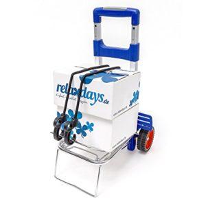 Relaxdays Transport Trolley ♥ Faltbarer Trolly mit 2 Spanngurten aus Gummi, damit Ihre Ladung rutschfest steht - Leichte Steuerung dank robuster Räder  ♥ Räder aus Hartgummi