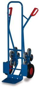 Stahlrohr Treppenkarre mit 2 fünfarmigen Radstern ♥ Stahlrohrkarren aus stabiler Schweißkonstruktion mit Sicherheitsgriffen. Schaufeln aus Stahlblech.  ♥ Luftbereifung auf Stahlblechfelge mit Präzisions-Rillenkugellager und Kunststoff-Radkappe